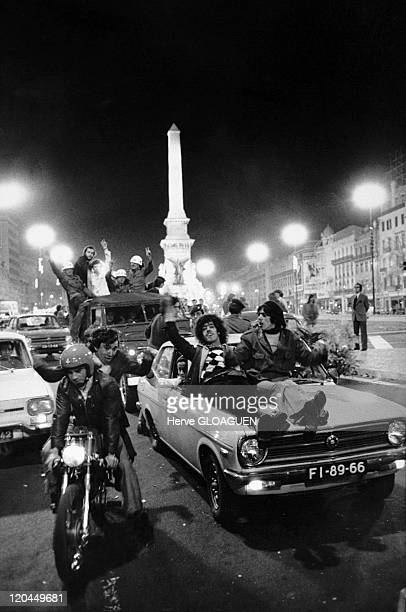 The carnation revolution in Lisbon Portugal in May 1 1974 The carnation revolution in the evening