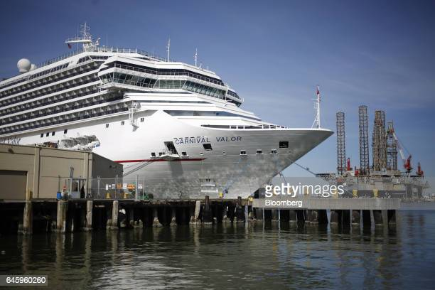 The Carnival Corp Valor cruise ship sits docked at the Port of Galveston in Galveston Texas US on Thursday Feb 16 2017 The US Census Bureau is...