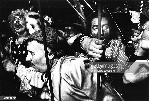 The Carnival of Dunkerque in Dunkirk France on February 17 1980 People during the Carnival of Dunkerque