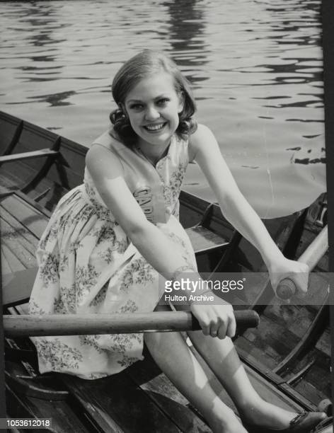 The Carnival Queen Of Old Windsor Takes To The Water The Carnival Queen Adrienne Tutty taking to the water at Old Windsor Berks Old Windsor Berkshire