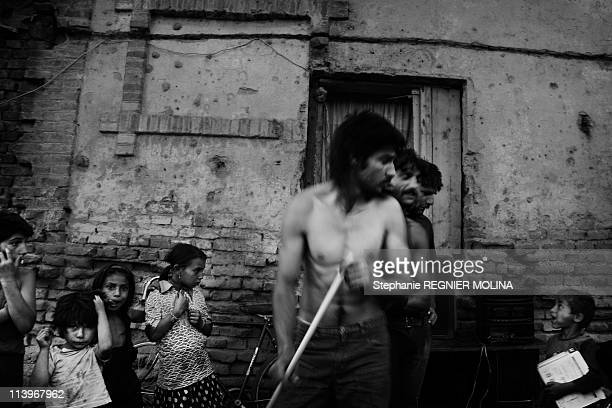 The Carpate Soul Daily Life Of A Gipsy Family In The Carpate Area In Miercurea Ciuc Romania On August 01 2009Daily life Romanian Roma men with...