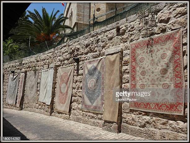 The carpets on the wall. Ierusalim.Stary gorod.Armyansky quarter. August 7 2012god