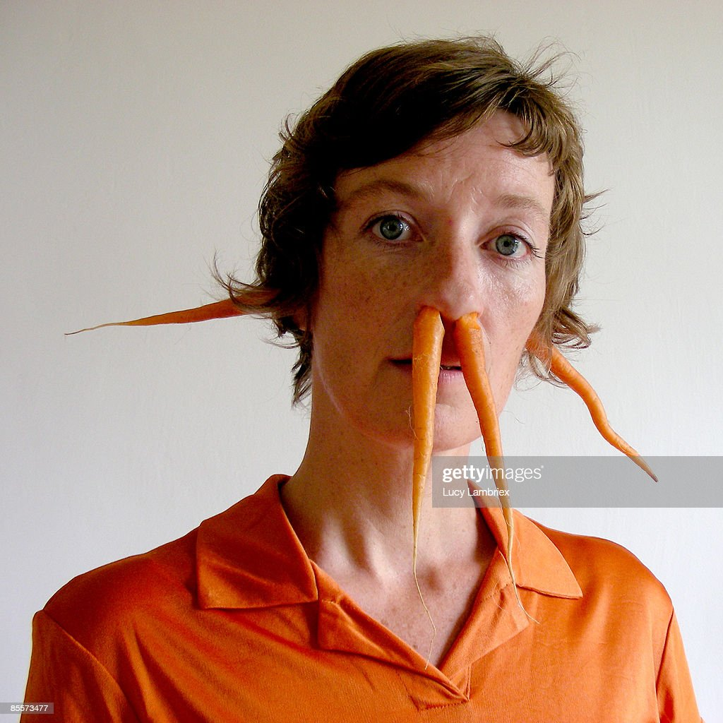 The carrot lady : Stockfoto