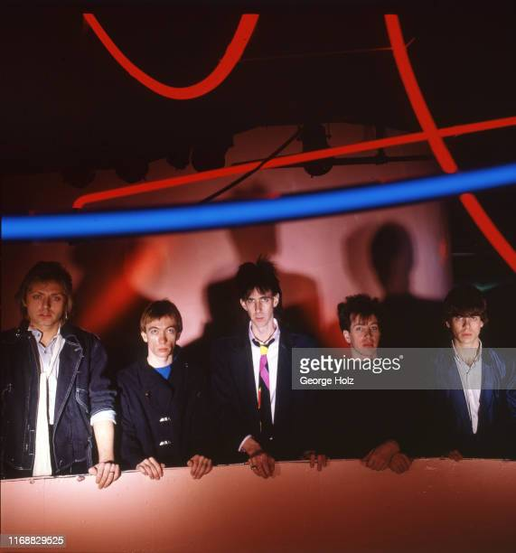 Benjamin Orr Greg Hawkes Ric Ocasek David Robinson and Elliot Easton are photographed for Elektra Records in 1984 in Boston Massachusetts