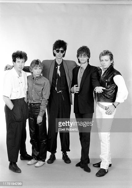 'The Cars' backstage at the Brendan Byrne Arena in East Rutherford New Jersey on July 23 1984