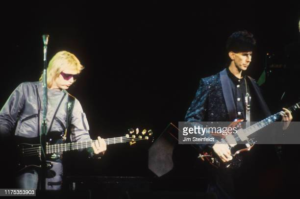 The Cars Benjamin Orr and Ric Ocasek perform on the Door to Door Tour at the St Paul Civic Center in St Paul Minnesota on November 28 1987