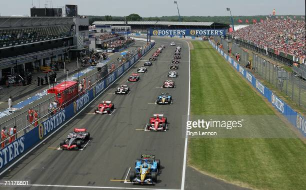 The cars lineup on the grid for the start of the F1 British Grand Prix on June 11th 2006 at Silverstone England