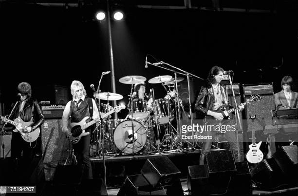 'The Cars' performing at a 'Rock Goes To College' show at the University of Sussex England on November 22 1978