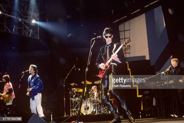 'The Cars' performing at the Brendan Byrne Arena in East Rutherford, New Jersey on March 15, 1982.