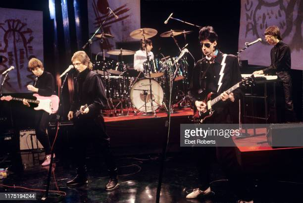 'The Cars' performing on the Tom Snyder Show on NBC TV in New York City on November 24 1981