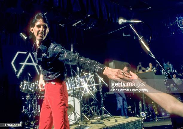 The Cars singer/songwriter Rick Ocasek greets fan after performing at The Paradise Theater June 29 1978 in Boston MA.