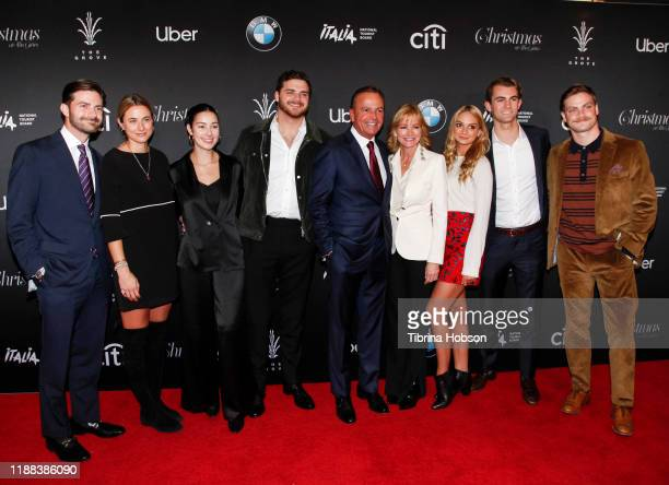 The Caruso family attend Christmas at The Grove A Festive Tree Lighting celebration at The Grove on November 17 2019 in Los Angeles California