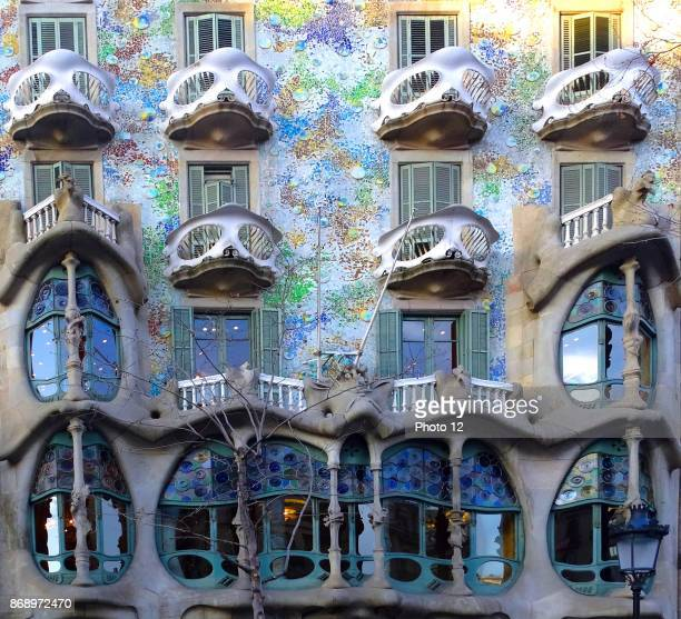 The Casa Batllo in Barcelona Spain was built in 1877 by Antoni Gaudi commissioned by Lluis Sala Sanchez It was a classical building without...