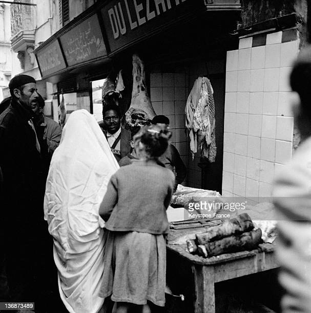 The Casbah of Algiers on the first day of the ceasefire on March 20 1962 in Algiers Algeria
