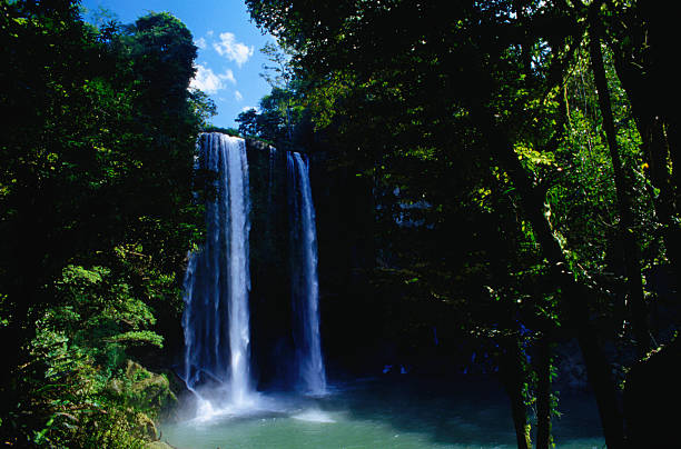 "The Cascada Misol-Ha with its 35 metre drop, about 25 kilometres out of town, was beautiful enough to be chosen for the setting of the movie ""Predator"""