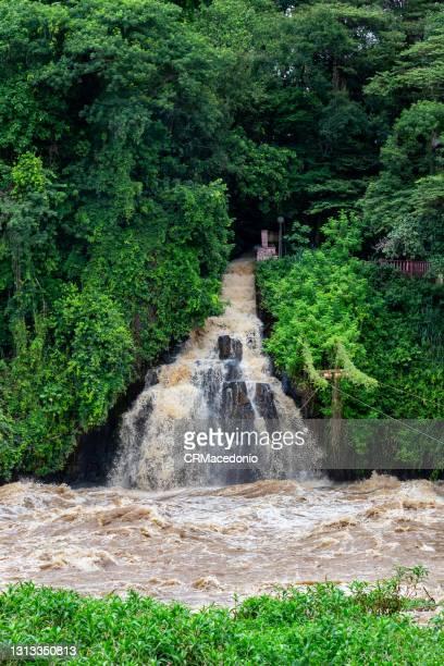 the cascade of the noiva da colina on the piracicaba river. - crmacedonio foto e immagini stock