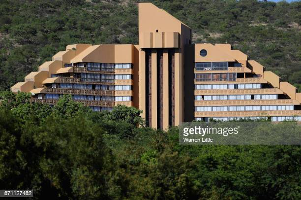 The Cascades Hotel is pictured ahead of the Nedbank Golf Challenge at Gary Player CC on November 7 2017 in Sun City South Africa