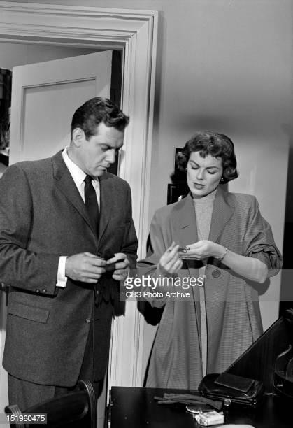 MASON The Case of the Crimson Kiss Perry Mason and Della Street Image dated April 24 1957