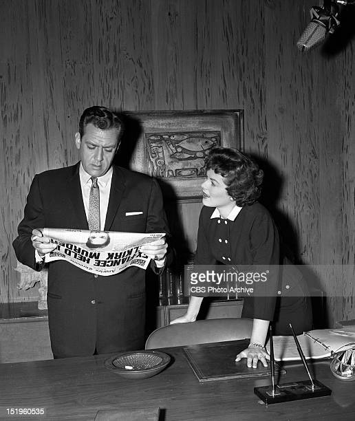 MASON 'the Case of the Deadly Toy' Barbara Hale as Della Street and Raymond Burr as Perry Mason Image dated April 21 1951