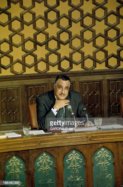The Case Of The Gulf Of Akaba And Six Day War Between Israel And The Arab Countries Press Conference President Nasser In Egypt Le Caire juin1967...