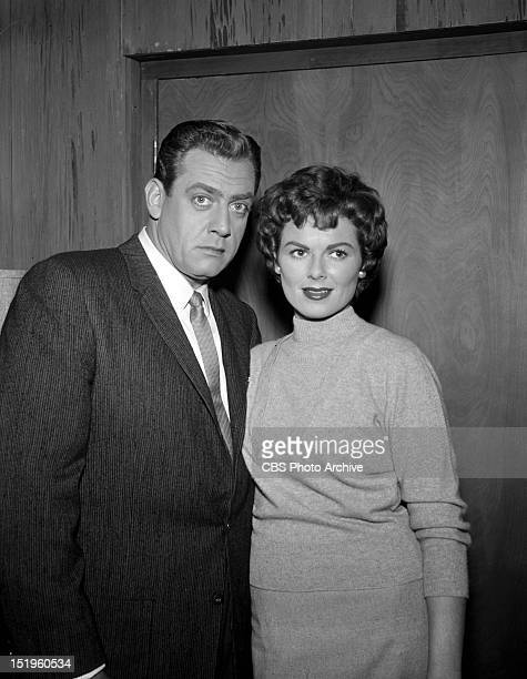MASON The Case of the Jaded Joker Raymond Burr as Perry Mason and Barbara Hale as Della Street Image dated January 20 1959