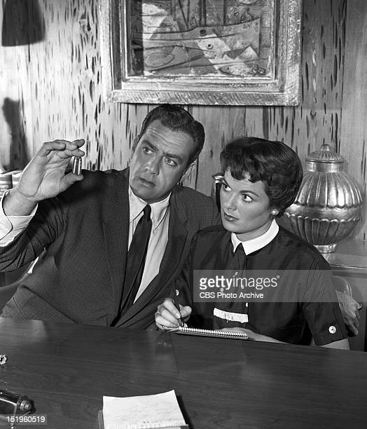 MASON 'The Case of the Lucky Loser' Raymond Burr as Perry Mason and Barbara Hale as Della street Image dated June 30 1958