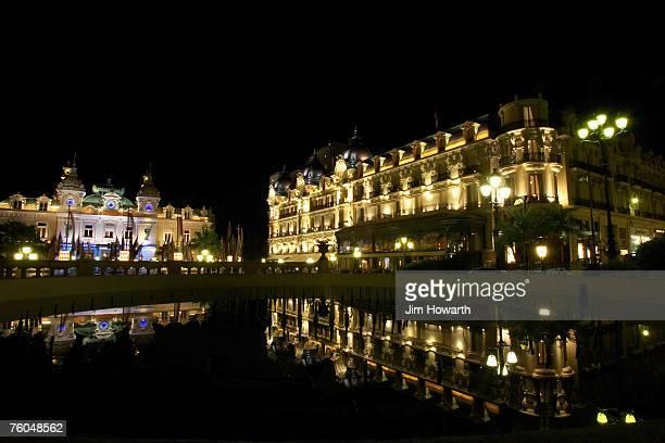 the casino and hotel de paris,casino square,monaco - monte carlo stock-fotos und bilder