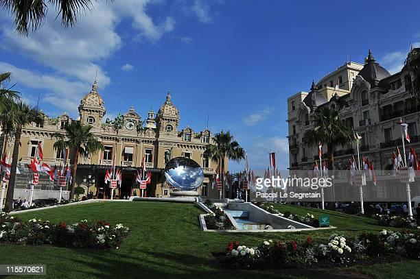 The Casino is seen prior to the upcoming Monaco royal wedding on June 8 2011 in Monaco Prince Albert II of Monaco and Charlene Wittstock of South...