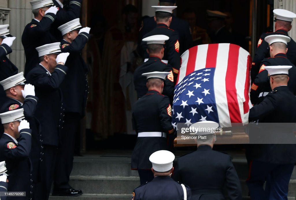 NY: Funeral Held For Fallen Marine And FDNY Firefighter Christopher Slutman