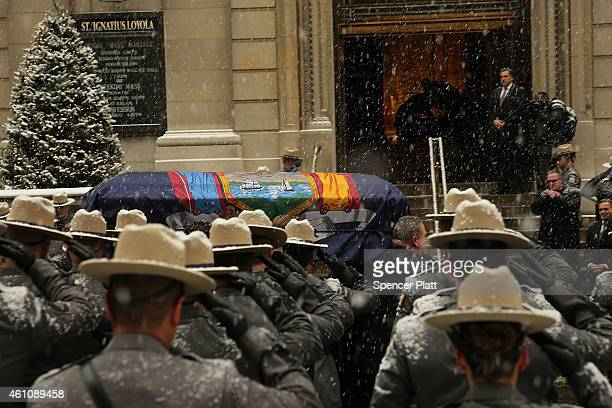 The casket of former threeterm governor Mario Cuomo enters St Ignatius Loyola Church on January 6 2015 in New York City Mario Cuomo who was once...