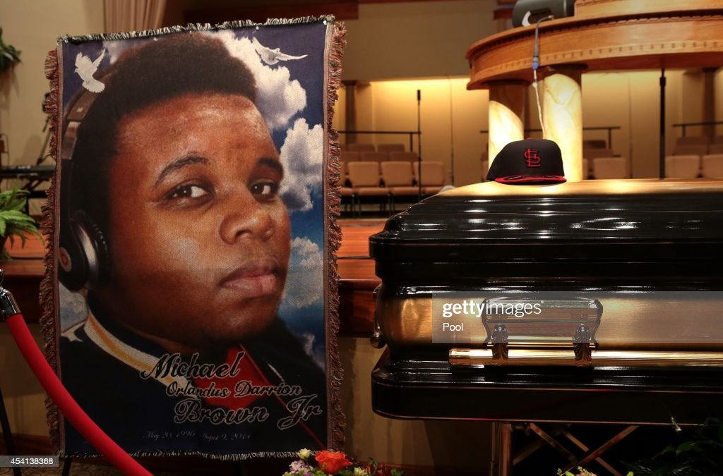 Funeral Held For Teen Shot To Death By Police In Ferguson, MO : News Photo