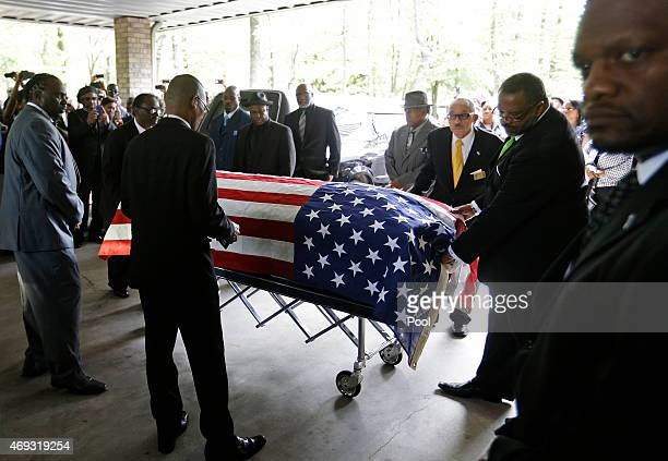 The casket of Walter Scott is wheeled into WORD Ministries Christian Center for his funeral April 11 2015 in Summerville South Carolina Scott was...