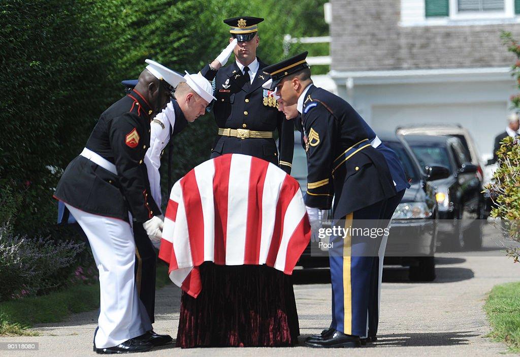 Senator Edward Kenedy Casket: The Casket With Sen. Edward Kennedy Is Lifted By A