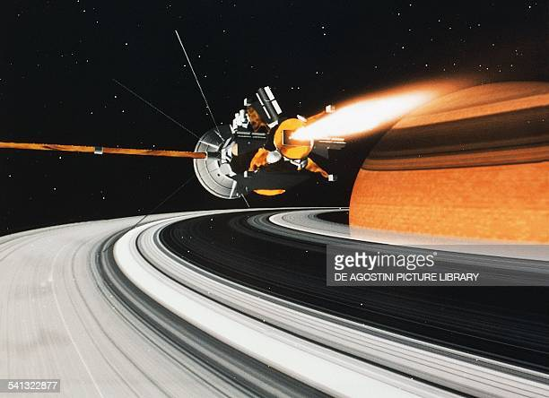 The CassiniHuygens spacecraft in orbit around Saturn JulyDecember 2004 illustration