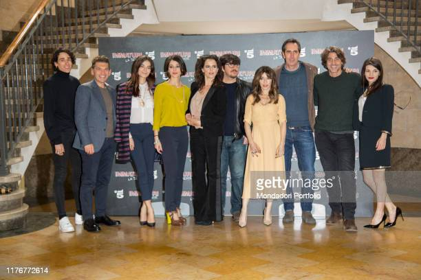 The cast actors attend the photocall of Mediaset's Immaturi fiction Milan January 11th 2018