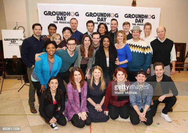 The cast and creative team attend the Groundhog Day'' press day at The New 42nd Street Studios on February 2 2017 in New York City