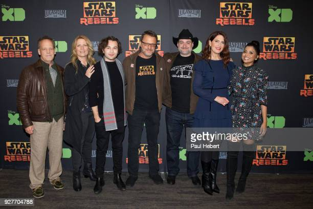 REBELS The cast and creative team of Disney XD's popular animated series Star Wars Rebels attend a screening of the highlyanticipated series finale...