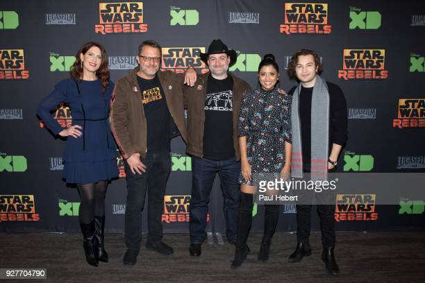 "The cast and creative team of Disney XD's popular animated series ""Star Wars Rebels"" attend a screening of the highly-anticipated series finale on..."