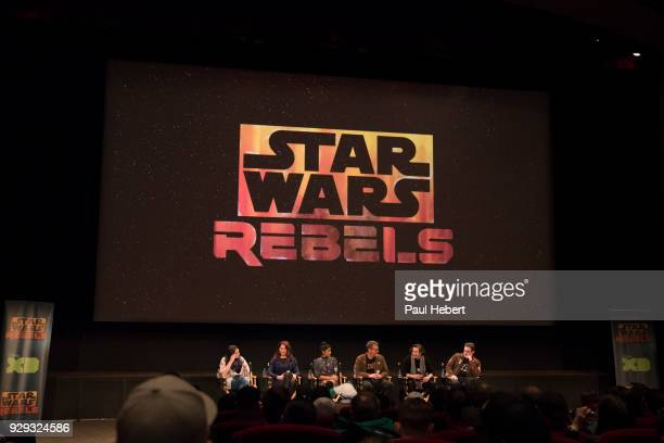 """The cast and creative team of Disney XD's popular animated series """"Star Wars Rebels"""" attend a screening of the highly-anticipated series finale on..."""