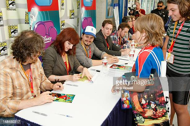ANIMATION The cast and creative teams from Disney Channel's 'Gravity Falls' 'Fish Hooks' and 'Wander Over Yonder' participate in an autograph signing...
