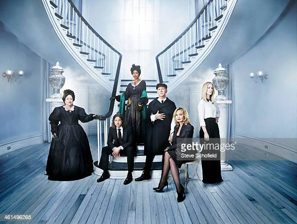 The cast and creators of American Horror Story the Coven Angela Bassett Jessica Lange Kathy Bates Sarah Paulson Ryan Murphy Brad Falchuk are...