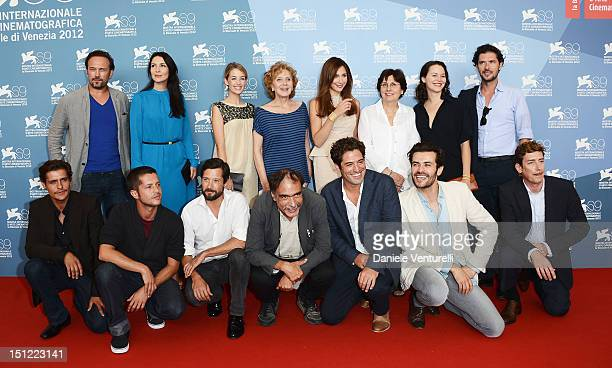 "The cast and crew attend ""Linhas de Wellington"" Photocall during The 69th Venice Film Festival at the Palazzo del Casino on September 4, 2012 in..."
