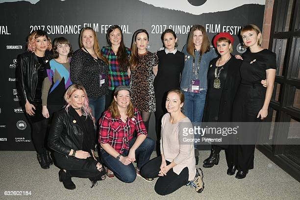 The cast and crew attend the Band Aid Premiere at Eccles Center Theatre on January 24 2017 in Park City Utah