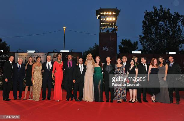 The cast and crew attend the Contagion premiere during the 68th Venice Film Festival at Palazzo del Cinema on September 3 2011 in Venice Italy