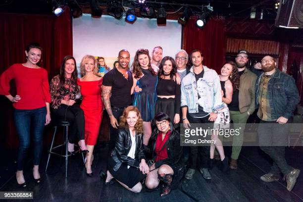The cast and crew attend the 'Female Friendly' Screening at The Three Clubs Hollywood Launching Now on April 30 2018 in Los Angeles California