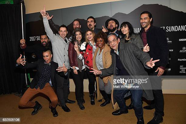 The cast and crew attend the GENTEFIED Premiere at Egyptian Theatre on January 23 2017 in Park City Utah