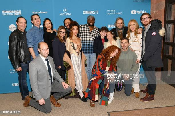 The cast and crew attend the Honey Boy Premiere during the 2019 Sundance Film Festival at Eccles Center Theatre on January 25 2019 in Park City Utah