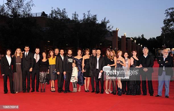 The cast and crew attend the Le Cose Che Restano Premiere during the 5th International Rome Film Festival at the Auditorium Parco Della Musica on...