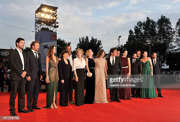 "The cast and crew attend the ""Lines Of Wellington"" Premiere during The 69th Venice Film Festival at the Palazzo del Cinema on September 4, 2012 in..."