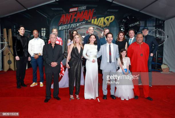 The cast and crew attend the premiere of Disney And Marvel's 'AntMan And The Wasp' on June 25 2018 in Los Angeles California